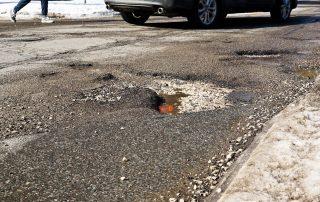 Image of potholes in Ontario