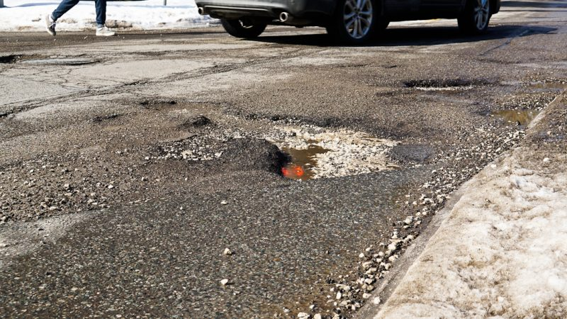 Image of potholes in Ontario