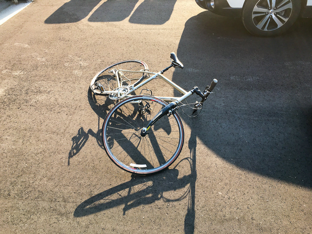 Image of a bicycle on the ground