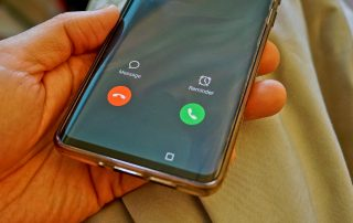 Image of phone call being received
